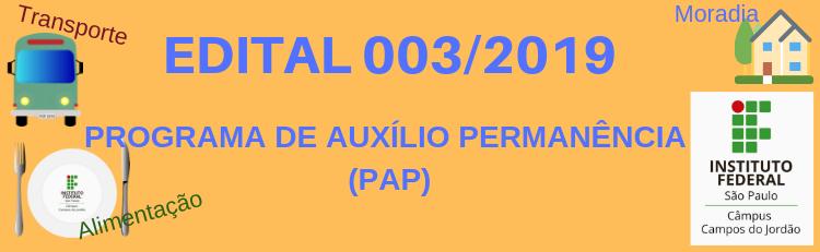 Confira o Edital 003-2019 aqui!