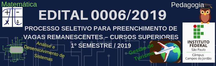 Confira a Errata n°. 01 do Edital 006-2019