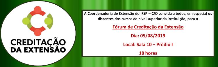 Fórum de Creditação da Extensão