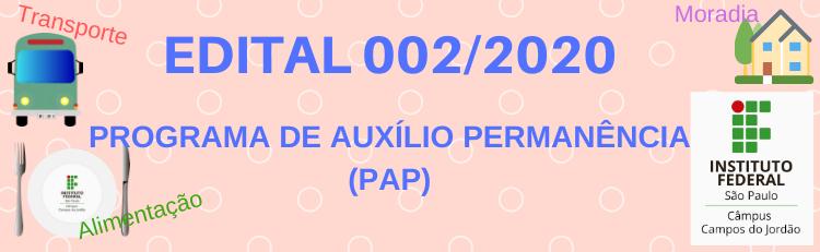 Acesse o Edital 0002/2020 aqui!
