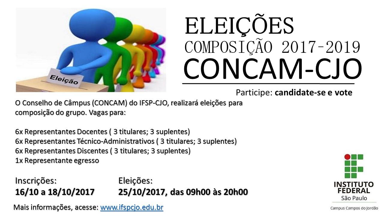 Eleições CONCAM: inscrições prorrogadas até 20 de outubro
