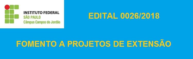 Confira o resultado final do Edital 0026/2018