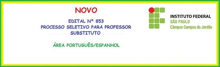 EDITAL Nº 853 - CONFIRA A CLASSIFICAÇÃO PRELIMINAR