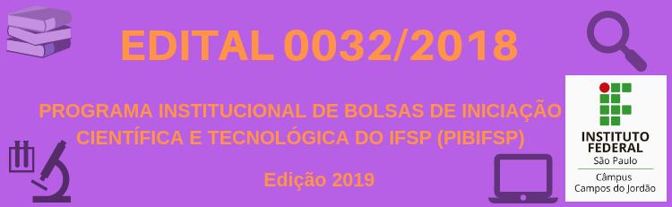 Confira o Edital 0032/2018 aqui!