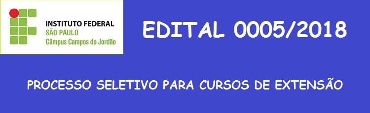 Veja os cursos e o Edital aqui!