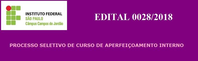 Confira o Edital 0028/2018 aqui!