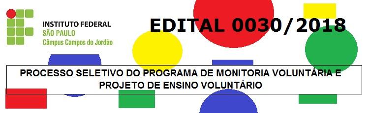 Confira o Edital 0030/2018 aqui!