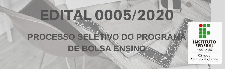 Confira aqui o Edital 0005/2020