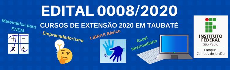 Confira o Edital 0008/2020 aqui!