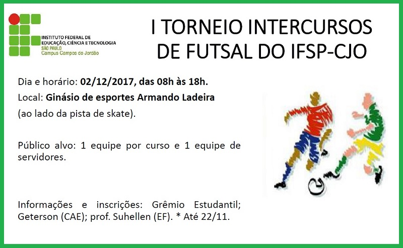 1º TORNEIO INTERCURSOS DE FUTSAL DO IFSP-CJO